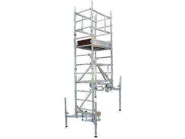 B. Echafaudage pour escalier : 7m haut. travail max