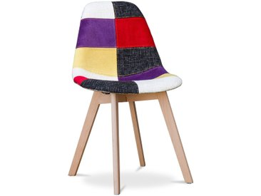 Chaise design Deswick - Patchwork Tessa Multicolore