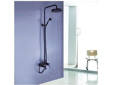 Robinet de douche style antique en bronze huilé jet de pluie