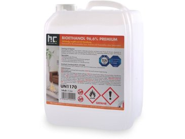 8 x 5 Litre 5 L bioéthanol 96,6% pour cheminées