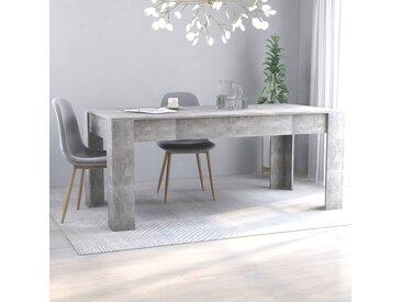 Table de salle a manger Gris beton 180x90x76 cm Agglomere