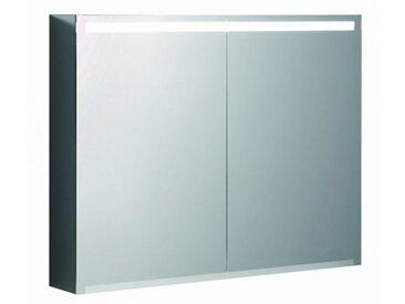 Geberit Armoire de toilette Geberit Option avec éclairage, deux portes, largeur 90 cm, 500583001 - 500.583.00.1