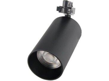Spot LED sur rail 32W 38° Triphasé NOIR - Blanc Chaud 2300K - 3500K