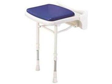 AKW - Siège de douche rembourré compact bleu (accessibilité PMR)