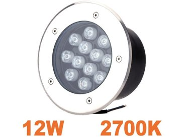 Spot LED 12W Encastrable Sol Extérieur Étanche Blanc Chaud 2700K
