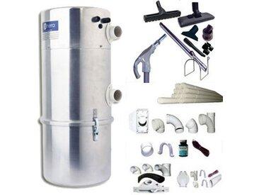 Aspirateur central AENERA 2100 PLUS II garantie 2 ans (jusqu'à 400 m²) + trousse inter 9 ML + 8 accessoires + kit 4 prises + kit prise balai + kit prise garage