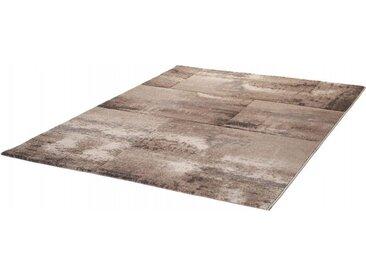 Tapis vintage rectangle en polypropylène Sanam Taupe 200x290 - Taupe