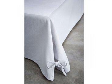 Cache sommier intégral coton gris 160x200