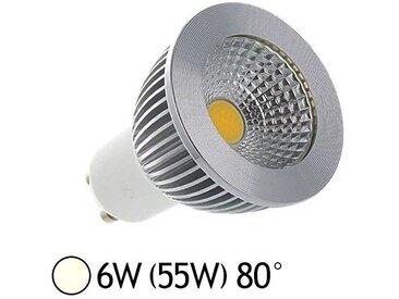 Spot LED COB 6W (55W) GU10 Angle 80° Blanc jour 4000°K