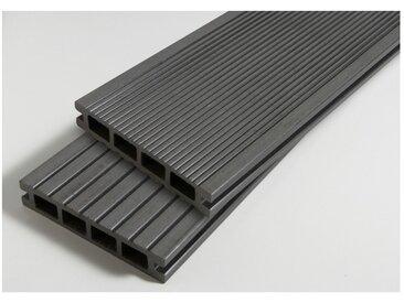 PACK 1 m² lame de terrasse composite Dual ACCESSOIRES (4 coloris) 3600mm - Coloris - Gris anthracite, Epaisseur - 25mm, Largeur - 14 cm, Longueur - 360 cm, Surface couverte en m² - 1