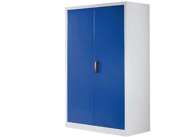 CP Armoire à portes battantes, h x l 1950 x 1200 mm - profondeur 500 mm - coloris portes bleu - Col. tablette: galvanisé|Col. portes: bleu