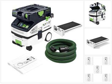 Festool CTL MINI I CLEANTEC Aspirateur mobile 10l, poussières de classe L ( 574840 ) + Filtre pour liquides extra + Sacs filtres