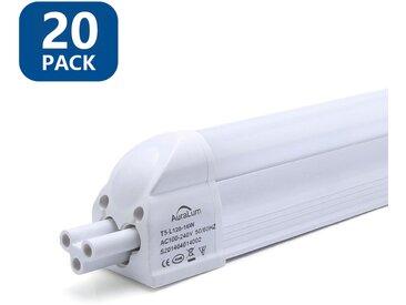 20×Anten T5 Tube LED 120CM Tube de Lumière Fluorescente 16W IP20 avec Réglette Complète Blanc Neutre 4000K