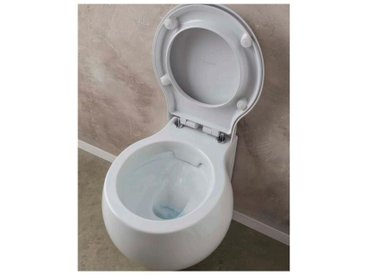 Clean Flush WC cuvette suspendue Planet | Abattant standard blanc