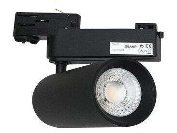 Spot LED sur Rail 30W 80° COB Triphasé NOIR - Blanc Froid 6000K - 8000K