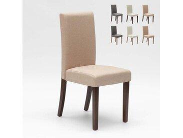 Chaise rembourrée style henriksdal pour cuisine salle à manger COMFORT | Beige