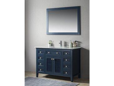 Ensemble de meuble SDB 2 pcs Postigo 120 style rustique gris laqué monté