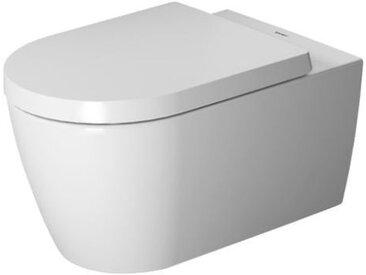 WC à suspension murale Duravit ME by Starck, lavable, Durafix inclus, 4,5 L, 370 x 570 mm, Coloris: Couleur intérieure blanc, couleur extérieure blanc soyeux mat - 2528092600