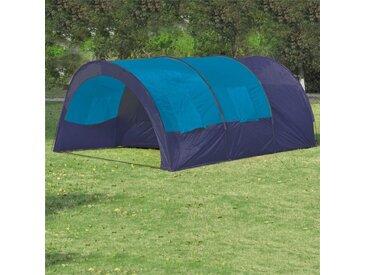 Hommoo Tente de camping 6 personnes Bleu foncé et Bleu
