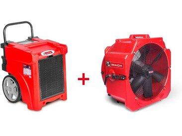 Pack Déshumidificateur mobile industriel 50 l/jour PE + Ventilateur mobile 2 vitesses 500 mm MW-Tools BDE50SETA