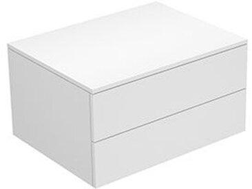 Keuco Edition 400 Buffet 31742, 2 tiroirs, 700 x 382 x 535 mm, Corps/Avant: Vernis texturé à la truffe / Vernis texturé à la truffe - 31742370000