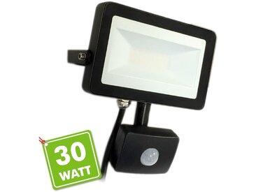 Projecteur LED 30W Noir détecteur de mouvement | Température de Couleur: Blanc chaud 2700K