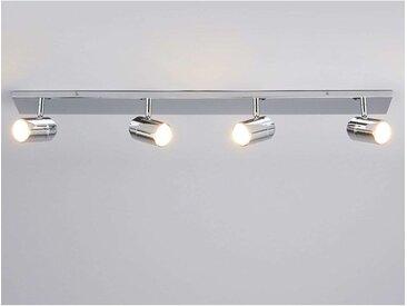 Plafonnier Salle De Bain à intensité variable 'Dejan' en métal pour salle de bain