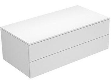 Keuco Edition 400 Buffet 31752, 2 tiroirs, 1050 x 382 x 535 mm, Corps/Avant: Blanc Struckturlack / Pétrole Verre mat - 31752790000
