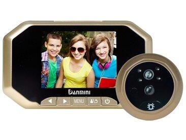 Interphone vidéo Visiophone or 3.0 pouces écran 2.0MP caméra de sécurité perturber visionneuse de judas, TF carte / vision noctu