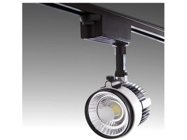 Spot LED Sur Rail 2 Phases COB 30W 2700Lm 30.000H Emery | Blanc froid (PL-218042-T-CW-W)