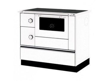 Cuisinière Bois Chauffage avec bouilleur Sannover 6 kW Blanc