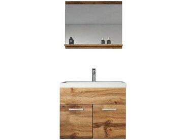 Meuble de salle de bain de Montreal 02 60 cm lavabo Marron - Armoire de rangement Meuble lavabo evier Meubles