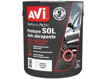 Peinture Sol Anti-dérapante, Perform Activ, Satin, Ciment, 2,5L, Avi