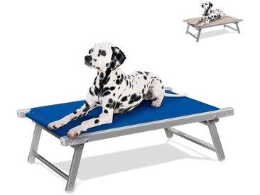 Lit pour chien aluminium niche animaux transat DOGGY | Bleu