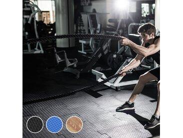 Tapis en mousse de protection sol tapis de fitness 62 cm x 62 cm x 1 cm avec bordures tapis puzzle 25 pièces 9,3 m² de surface noir