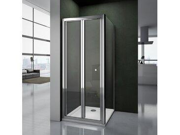 Porte de douche pliante 90x90x187cm cabine de douche largeur de la paroi:90cm