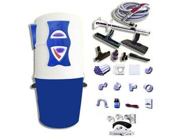 Aspirateur central hybride ASPIBOX Dual à variateur de vitesse GARANTIE 5 ANS (jusqu'à 500 m²) + trousse à variateur 9 M + 8 accessoires + kit 5 prises + kit prise balai + kit prise garage