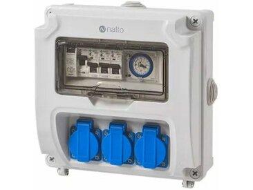 Coffret Electrique Piscine Hors Sol Filtration - Horloge Mécanique - 3 prises - NALTO