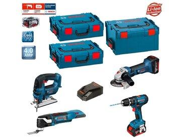 BOSCH Kit PSL4WGM2A (GST 18 V-LI + GOP 18 V-28 + GWS 18-125 V-LI + GSB 18-2-LI Plus + 2 x 4,0 Ah + L-Boxx 238 + 2 x L-Boxx 136)