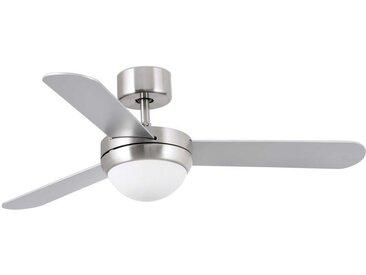 Ventilateur de plafond avec lumière modèle-Faeroe-Nickel