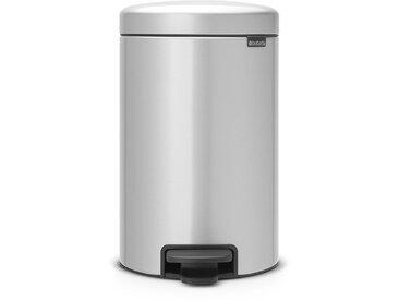 poubelle à pédale 12l metallic grey - 113680 - Brabantia