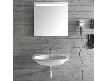 Ceramica Globo 4ALL - Lavabo suspendu 60x45 cm, en céramique blanc brillant (code MD060.BI)
