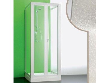 Cabine douche 3 côtés 70x70x70 CM en acrylique mod. Saturno avec ouverture pliante