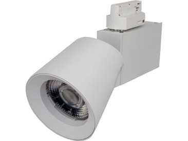 Spot LED sur rail 25W 38° Triphasé BLANC - Blanc Chaud 2300K - 3500K