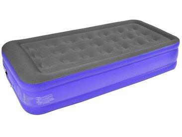 Lit Gonflable, Matelas Pneumatique, Simple, 187 x 91 x 46 cm, Violet/Gris, Accessoires: Pompe électrique