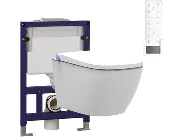 WC lavant BERNSTEIN PRO+1104 offre spéciale pack économique 27 et bâti-support G3005 et plaque de déclenchement