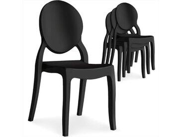 Lot de 4 chaises médaillon Diva Noir