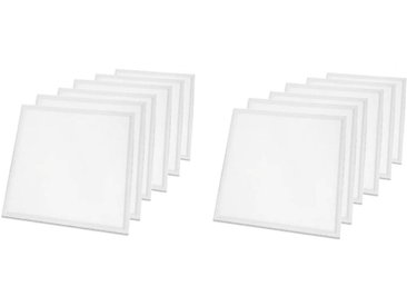 LOT DE 12 PAVES LED 600x600 - 36W BLANC BRILLANT