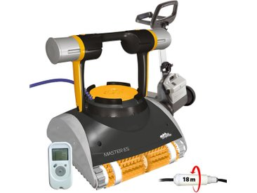 robot électrique de piscine fond, parois et ligne d'eau avec télécommande et chariot