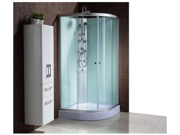 Vittoria : douche balnéo d'angle : 6 jets de massage, étagères